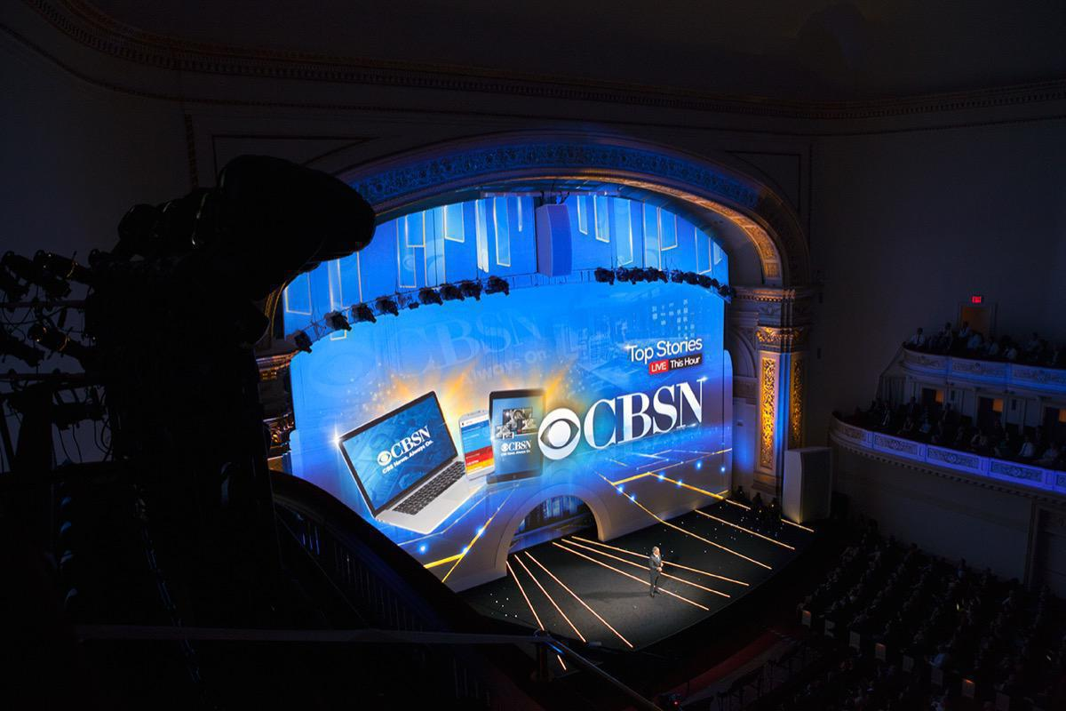 Photo 5 in '2015 CBS Upfront' gallery showcasing lighting design by Mike Baldassari of Mike-O-Matic Industries LLC