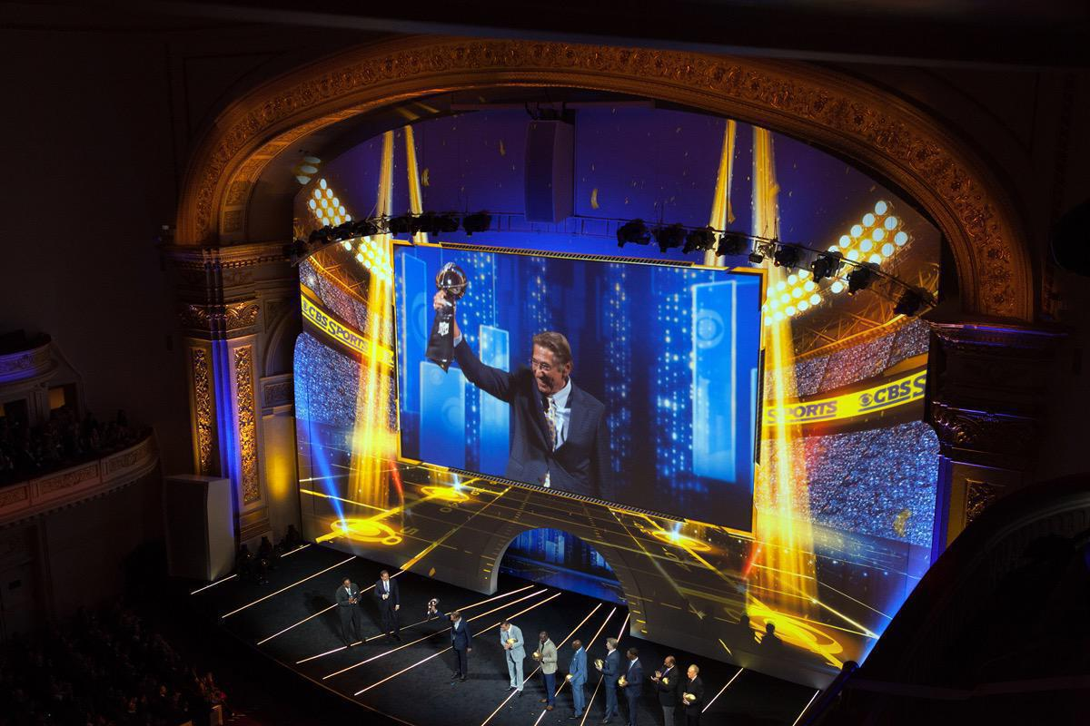 Photo 6 in '2015 CBS Upfront' gallery showcasing lighting design by Mike Baldassari of Mike-O-Matic Industries LLC