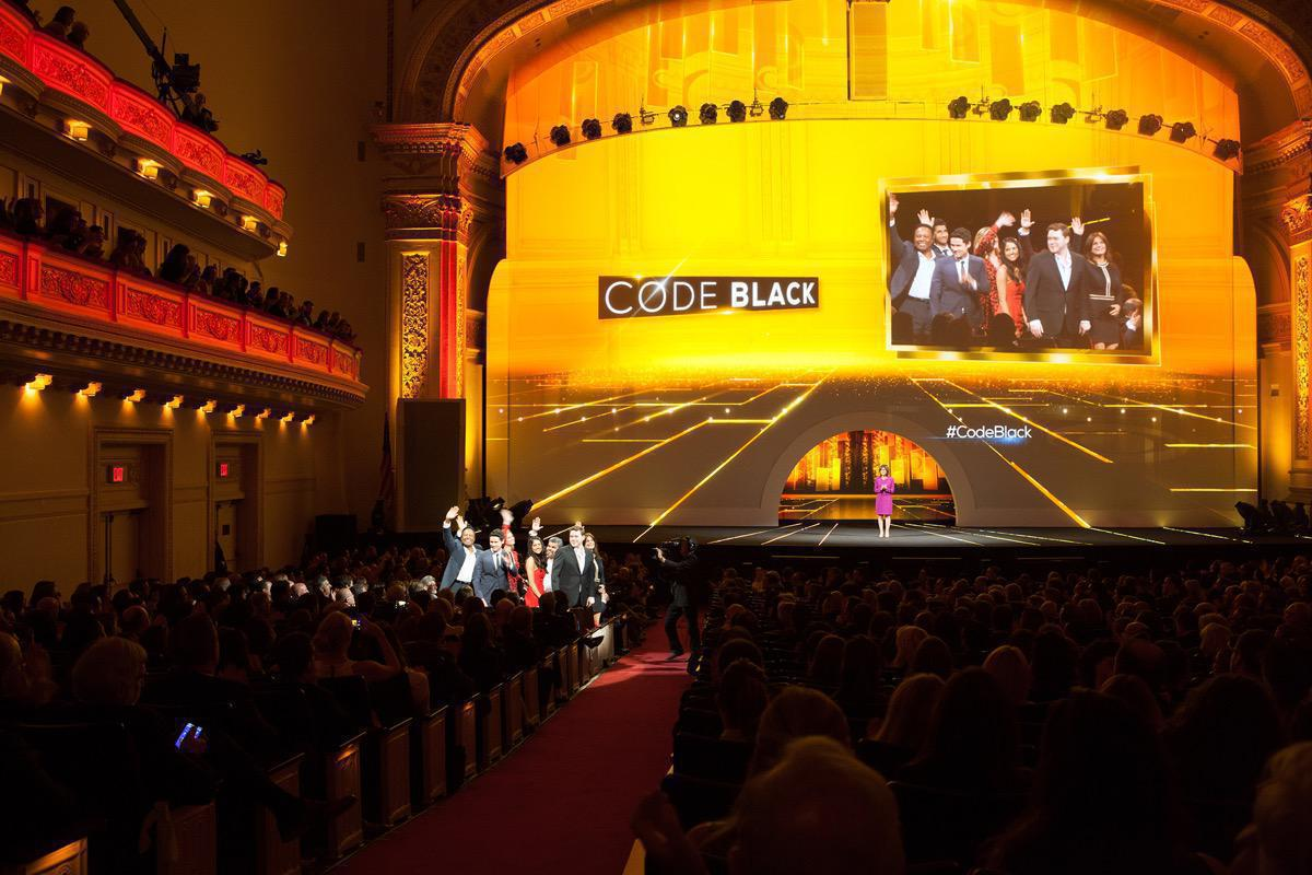 Photo 9 in '2015 CBS Upfront' gallery showcasing lighting design by Mike Baldassari of Mike-O-Matic Industries LLC