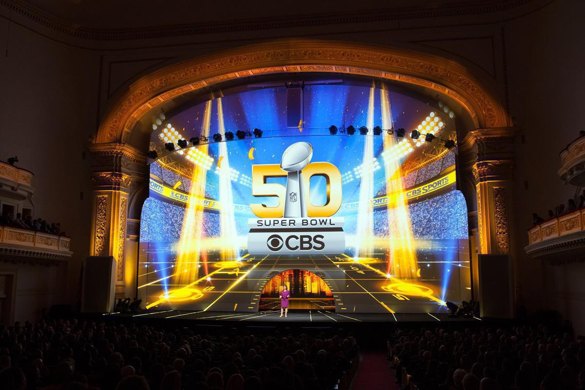 Photo 12 in '2015 CBS Upfront' gallery showcasing lighting design by Mike Baldassari of Mike-O-Matic Industries LLC