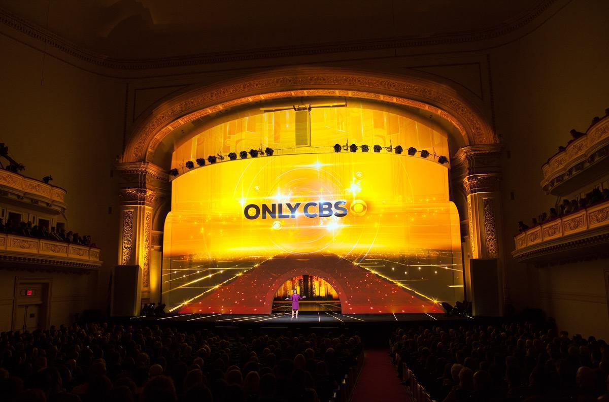 Photo 13 in '2015 CBS Upfront' gallery showcasing lighting design by Mike Baldassari of Mike-O-Matic Industries LLC