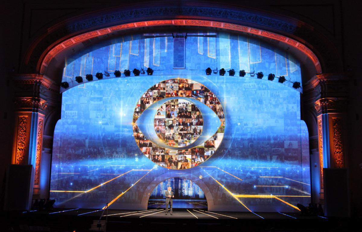 Photo 15 in '2015 CBS Upfront' gallery showcasing lighting design by Mike Baldassari of Mike-O-Matic Industries LLC