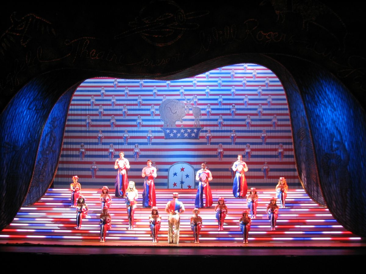 Photo 2 in 'The Will Rogers Follies: A Life in Review' gallery showcasing lighting design by Mike Baldassari of Mike-O-Matic Industries LLC