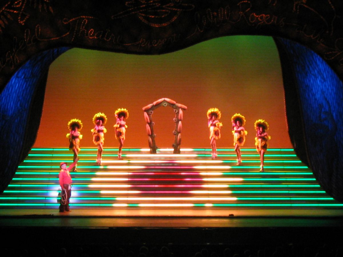 Photo 3 in 'The Will Rogers Follies: A Life in Review' gallery showcasing lighting design by Mike Baldassari of Mike-O-Matic Industries LLC