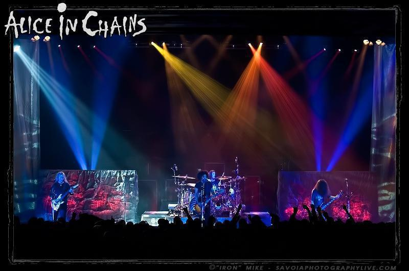 Photo 4 in 'Alice In Chains - Black Gives Way to Blue Tour - Spring 2010' gallery showcasing lighting design by Mike Baldassari of Mike-O-Matic Industries LLC