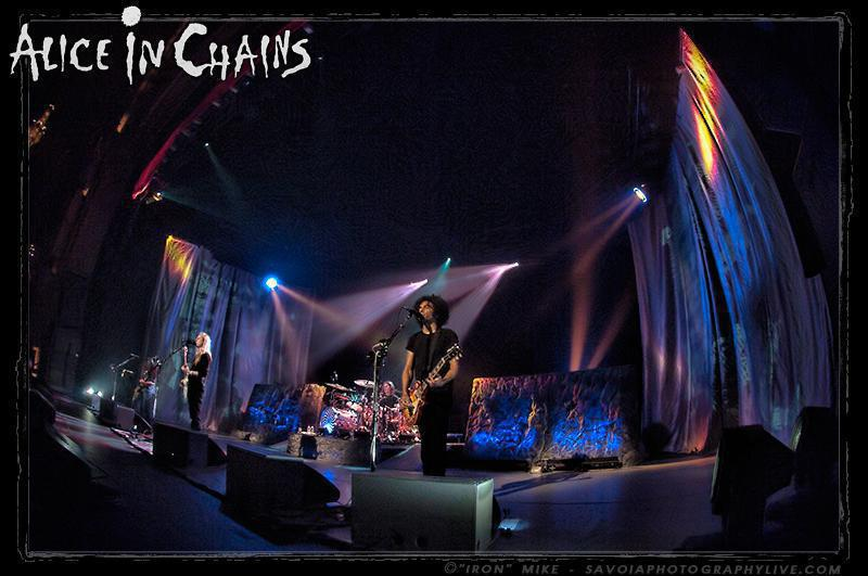 Photo 5 in 'Alice In Chains - Black Gives Way to Blue Tour - Spring 2010' gallery showcasing lighting design by Mike Baldassari of Mike-O-Matic Industries LLC