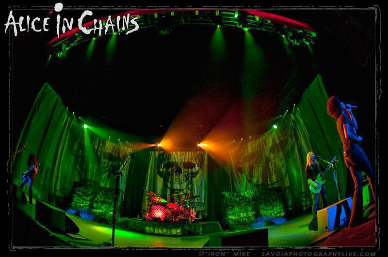 Photo 11 in 'Alice In Chains - Black Gives Way to Blue Tour - Spring 2010' gallery showcasing lighting design by Mike Baldassari of Mike-O-Matic Industries LLC