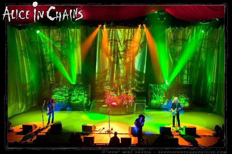 Photo 12 in 'Alice In Chains - Black Gives Way to Blue Tour - Spring 2010' gallery showcasing lighting design by Mike Baldassari of Mike-O-Matic Industries LLC
