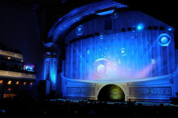 Photo 8 in '2012 CBS Upfront' gallery showcasing lighting design by Mike Baldassari of Mike-O-Matic Industries LLC