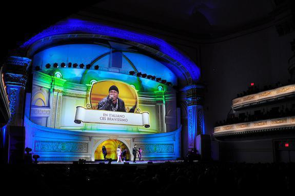 Photo 3 in '2012 CBS Upfront' gallery showcasing lighting design by Mike Baldassari of Mike-O-Matic Industries LLC